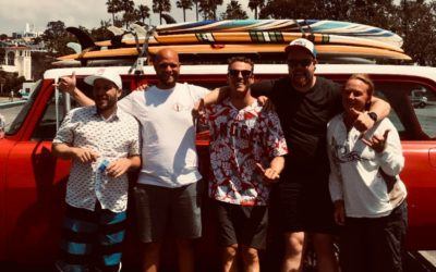 Surfing with the boys in Cali